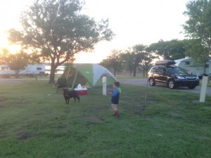 Our campsite at Wilson Lake State Park, Kansas.
